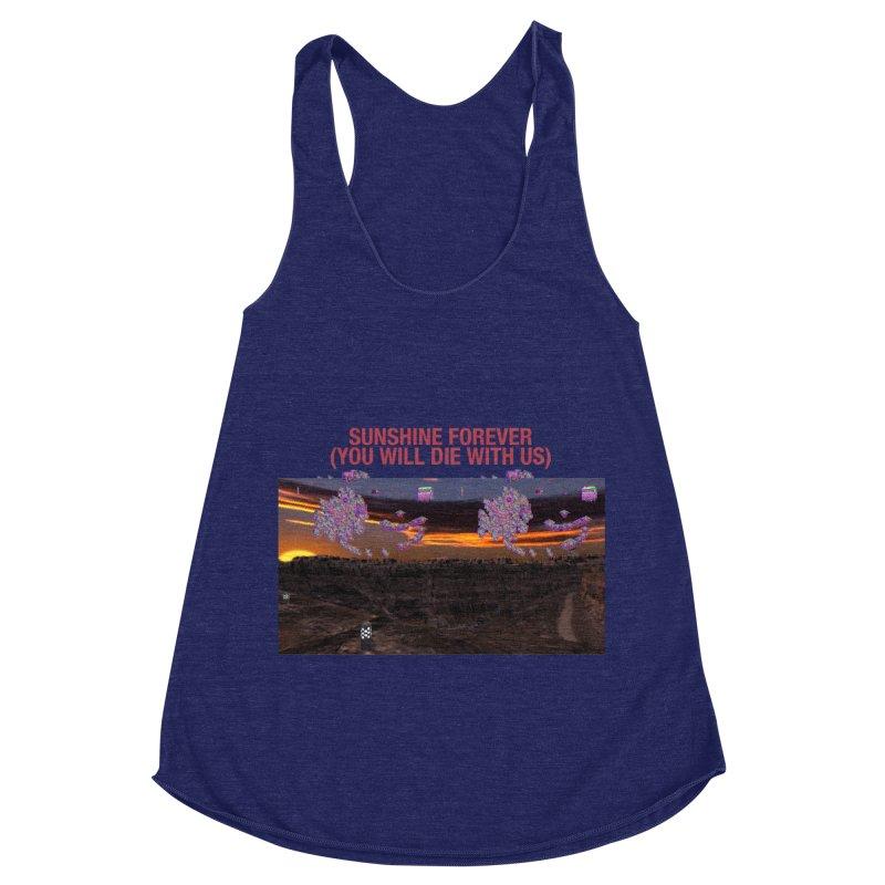 sunshine forevr Women's Racerback Triblend Tank by Undying Apparel Shop