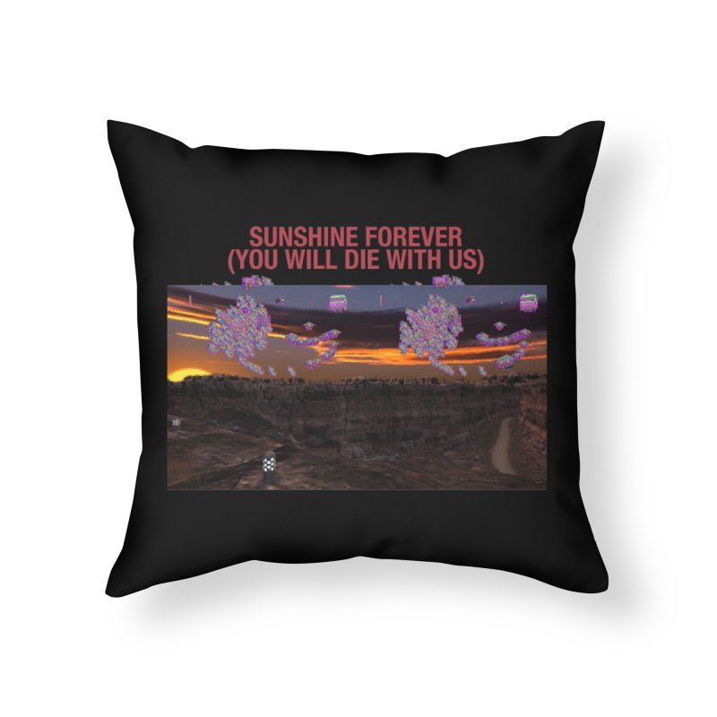 sunshine forevr Home Throw Pillow by Undying Apparel Shop
