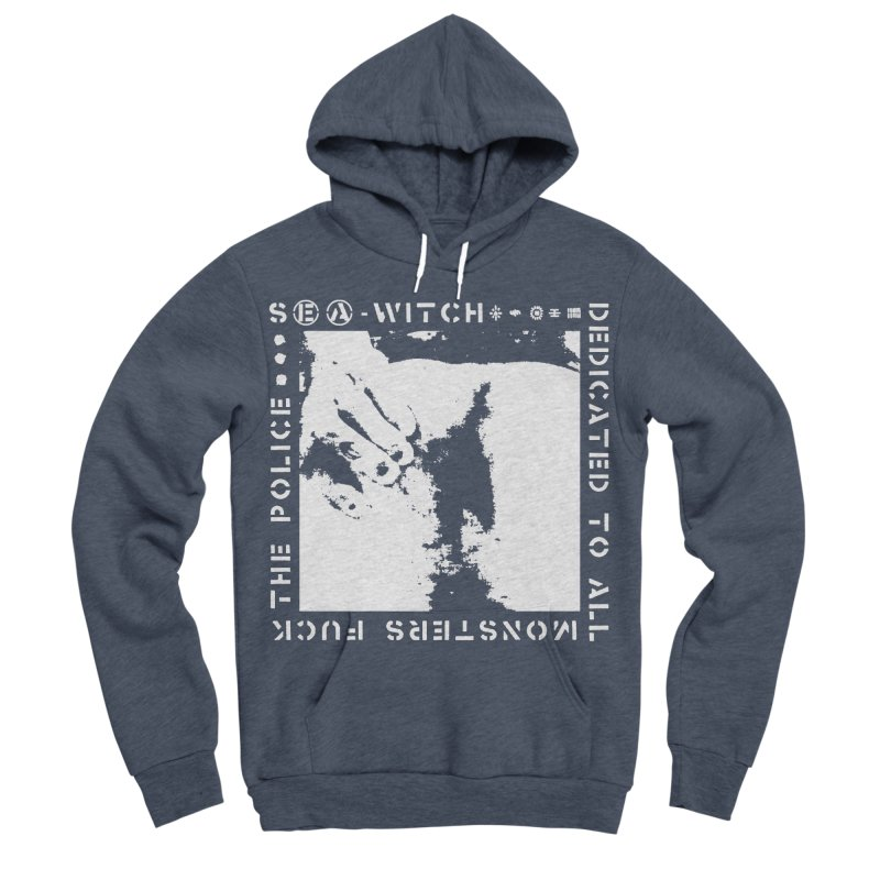crass sea-witch design Men's Sponge Fleece Pullover Hoody by Undying Apparel Shop