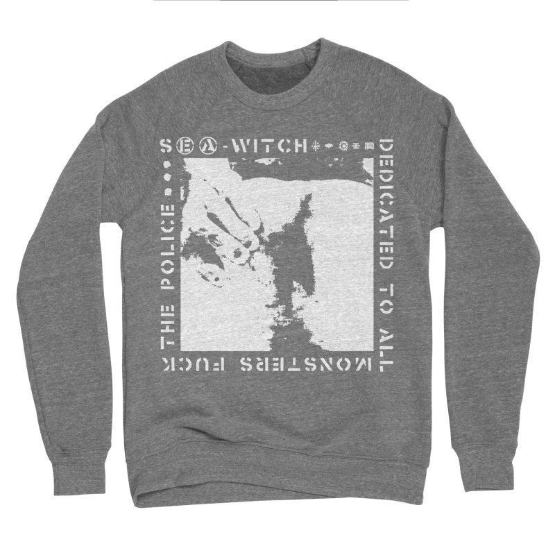 crass sea-witch design Men's Sponge Fleece Sweatshirt by Undying Apparel Shop