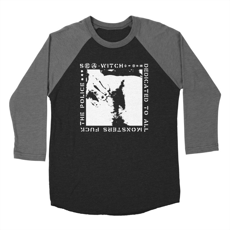 crass sea-witch design Men's Baseball Triblend Longsleeve T-Shirt by Undying Apparel Shop
