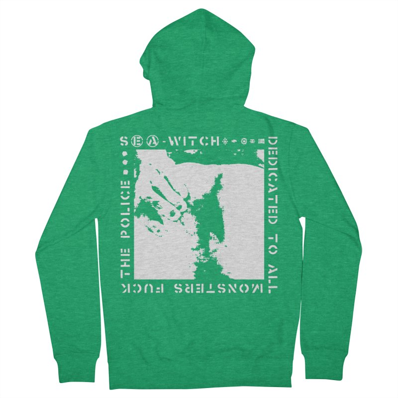 crass sea-witch design Women's Zip-Up Hoody by Undying Apparel Shop