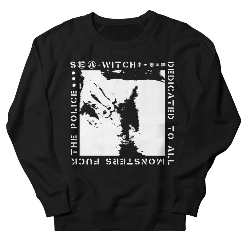 crass sea-witch design Women's French Terry Sweatshirt by Undying Apparel Shop