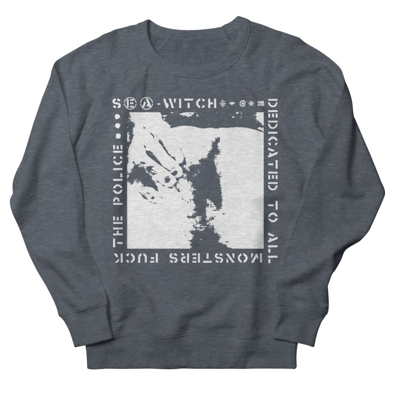 crass sea-witch design Men's French Terry Sweatshirt by Undying Apparel Shop
