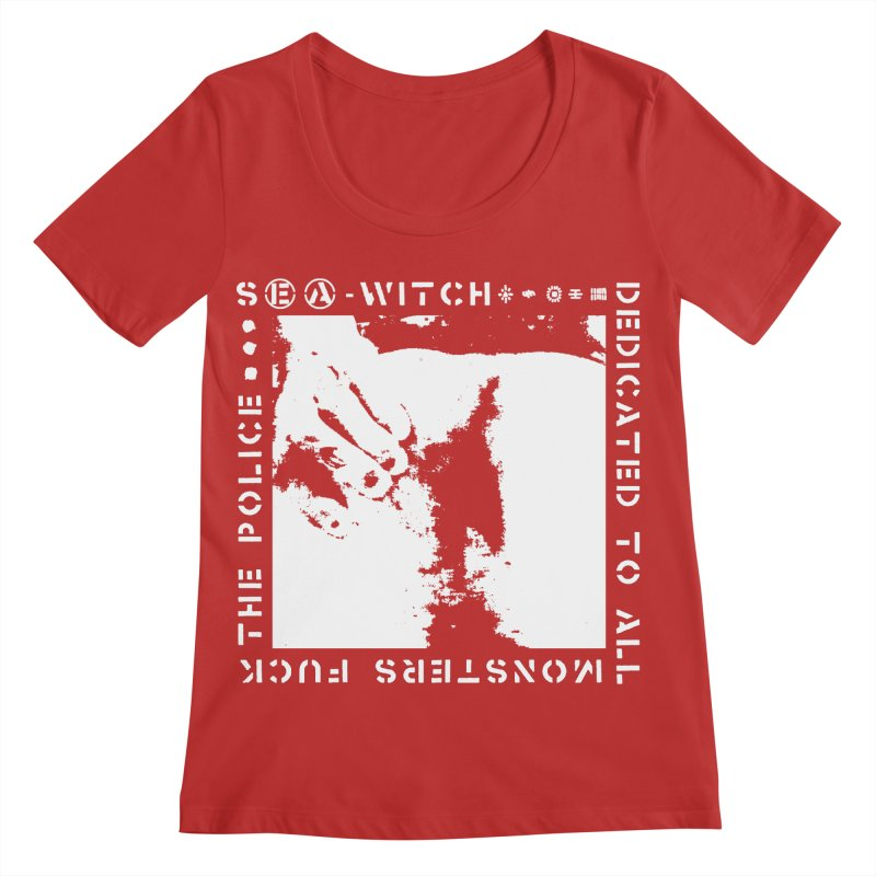 crass sea-witch design Women's Regular Scoop Neck by Undying Apparel Shop