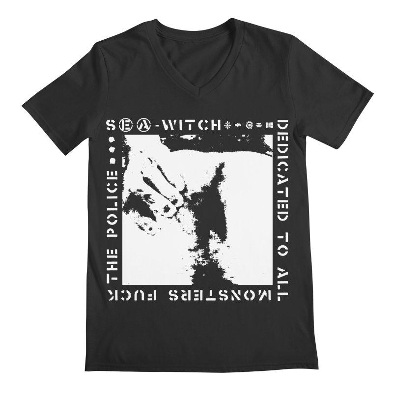crass sea-witch design Men's Regular V-Neck by Undying Apparel Shop