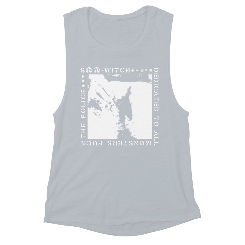 crass sea-witch design Women's Muscle Tank by Undying Apparel Shop