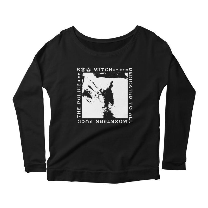 crass sea-witch design Women's Scoop Neck Longsleeve T-Shirt by Undying Apparel Shop