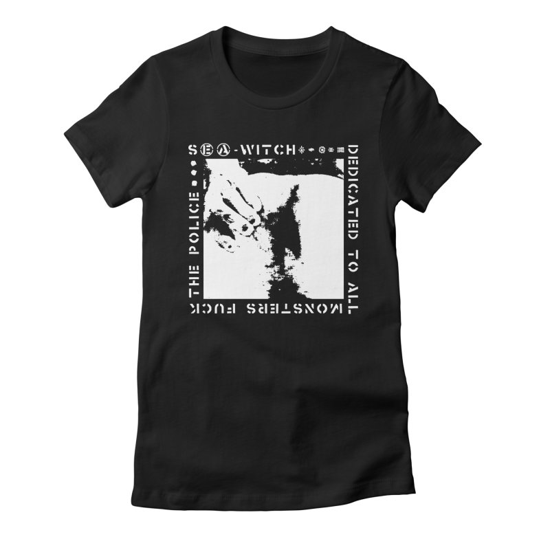 crass sea-witch design Women's Fitted T-Shirt by Undying Apparel Shop