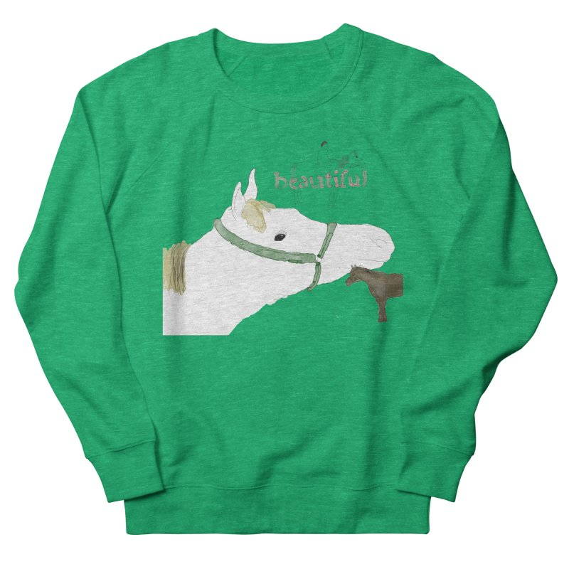 beautiful Women's French Terry Sweatshirt by Undying Apparel Shop