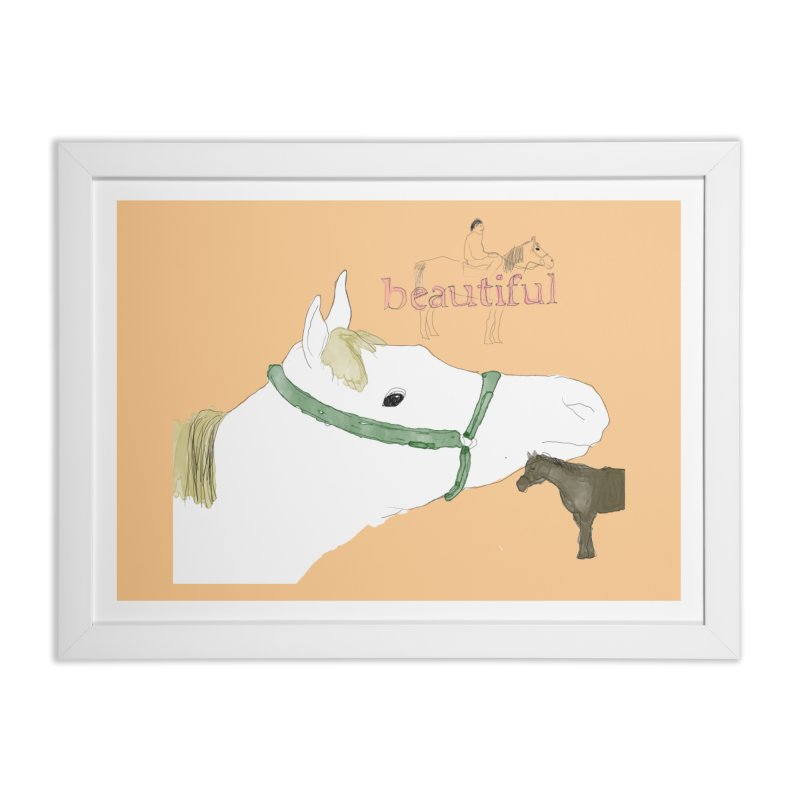 beautiful Home Framed Fine Art Print by Undying Apparel Shop