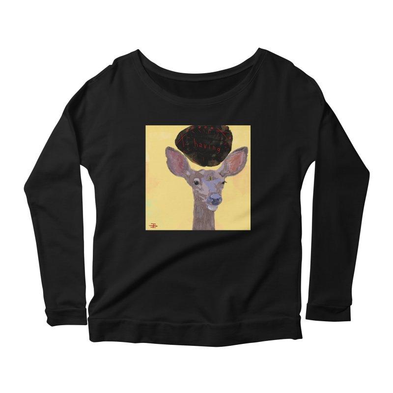having Women's Scoop Neck Longsleeve T-Shirt by Undying Apparel Shop