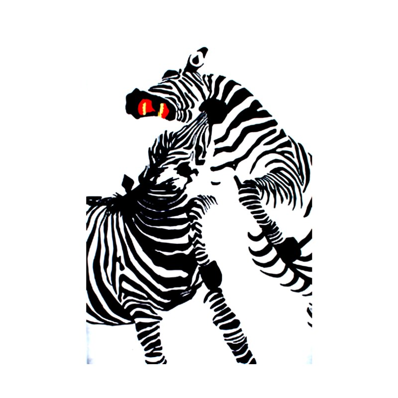 Shannons' Zebras w white background by Art by Jessica J Newman Printed on Stuff