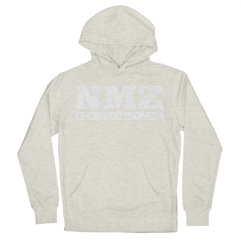 NMZ White Men's French Terry Pullover Hoody by New Morality Zine