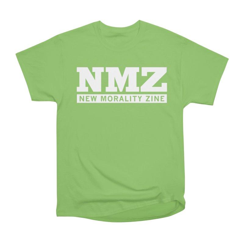 NMZ White Men's Heavyweight T-Shirt by New Morality Zine