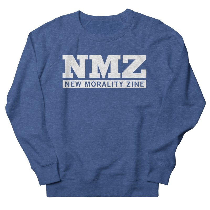 NMZ White Men's Sweatshirt by New Morality Zine