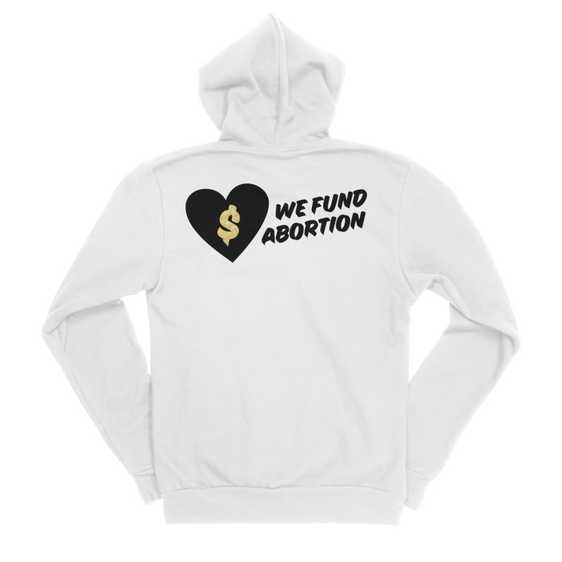 We Fund Abortion, black & gold Fitted Zip-Up Hoody by New River Abortion Access Fund Shop