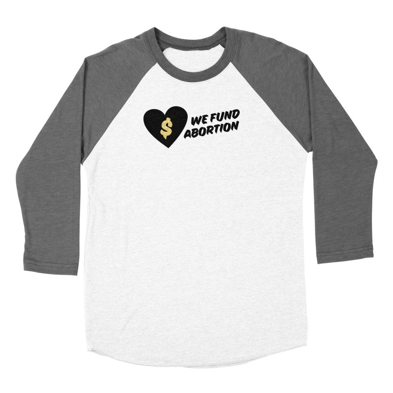 We Fund Abortion, black & gold Fitted Longsleeve T-Shirt by New River Abortion Access Fund Shop