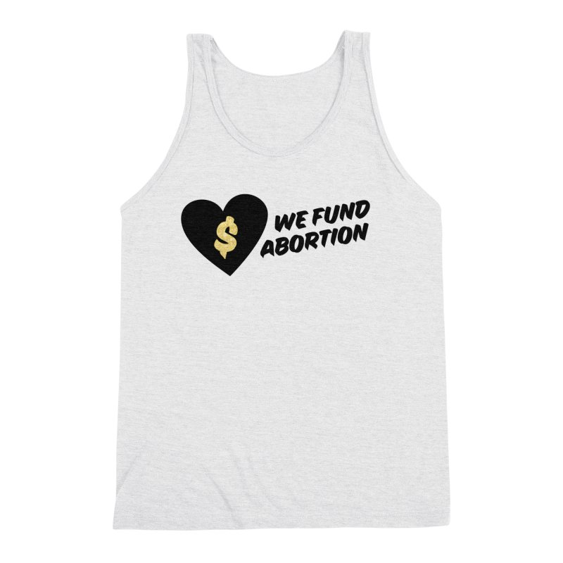 We Fund Abortion, black & gold Loose Fit Tank by New River Abortion Access Fund Shop
