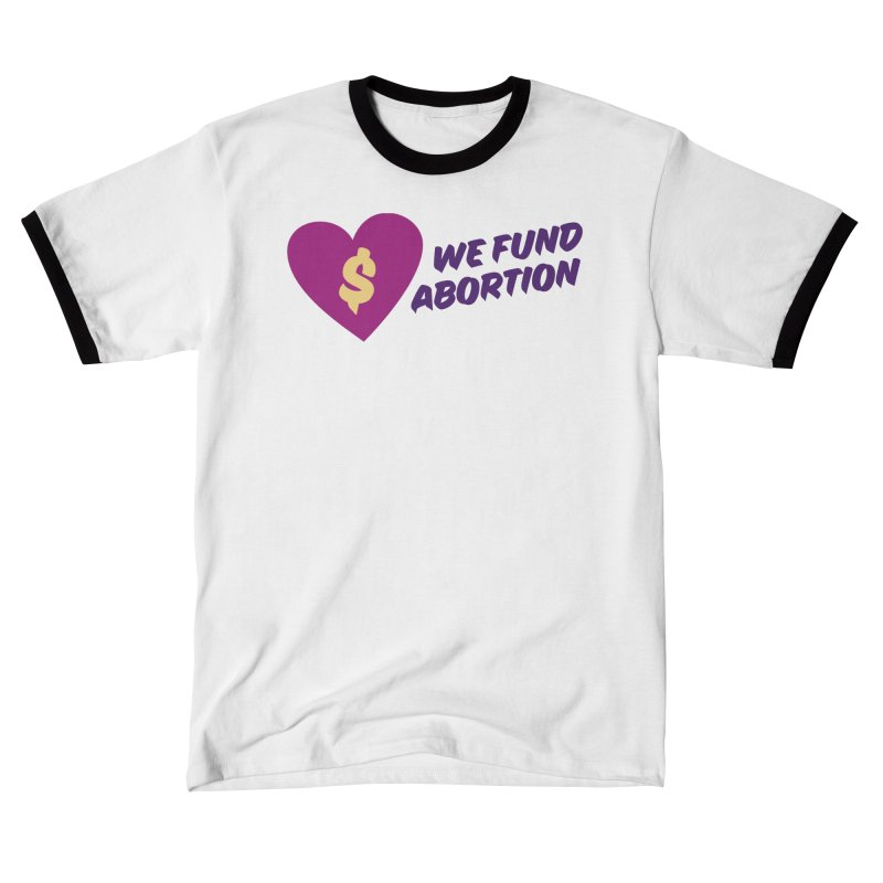 We Fund Abortion, purple Fitted T-Shirt by New River Abortion Access Fund Shop