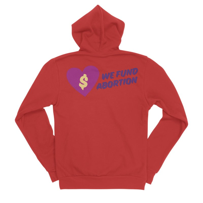 We Fund Abortion, purple Fitted Zip-Up Hoody by New River Abortion Access Fund Shop