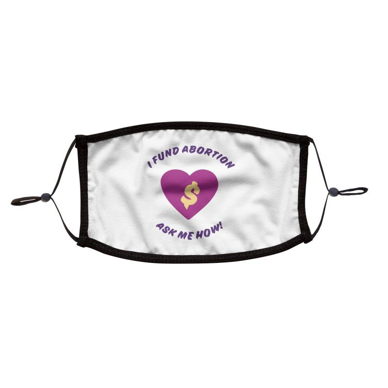 Ask Me How, purple Accessories Face Mask by New River Abortion Access Fund Shop