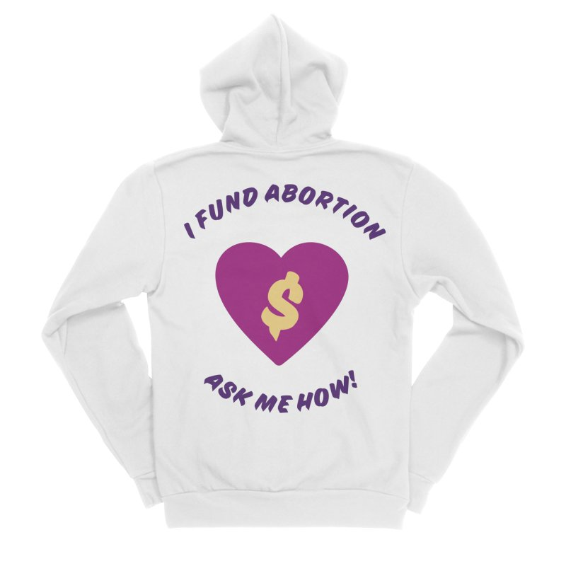 Ask Me How, purple Loose Fit Zip-Up Hoody by New River Abortion Access Fund Shop
