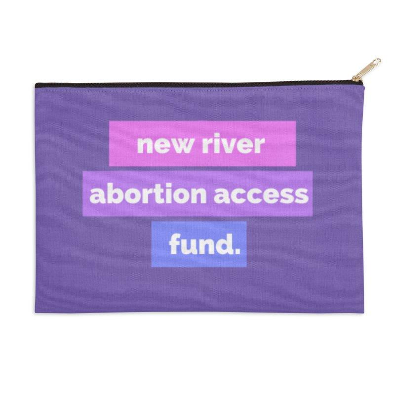 New River Abortion Access Fund Zip Pouch, Purple Accessories Zip Pouch by New River Abortion Access Fund Shop