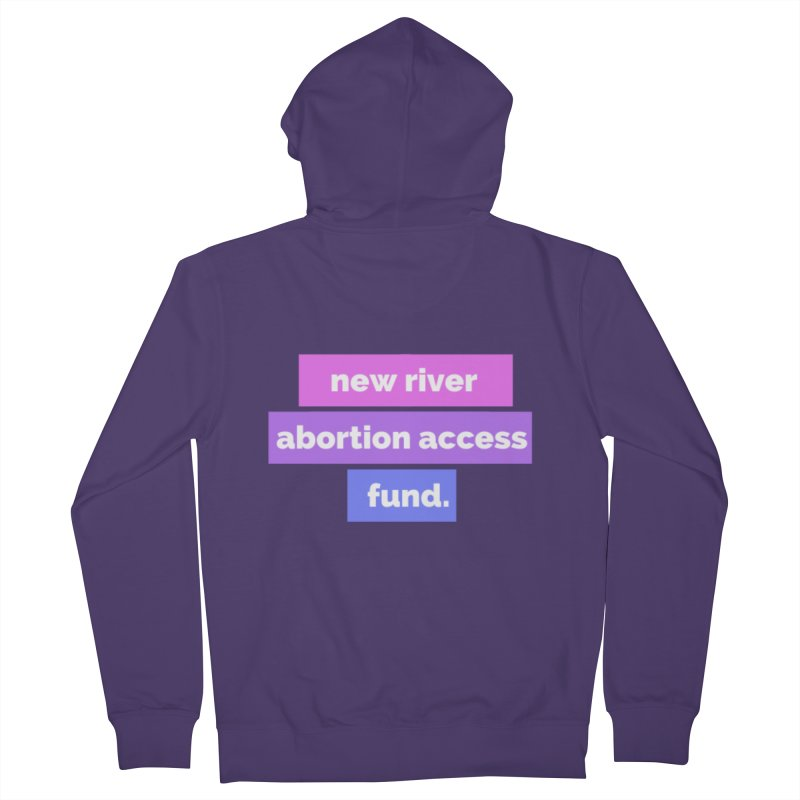 New River Abortion Access Fund Hoody Fitted Zip-Up Hoody by New River Abortion Access Fund Shop