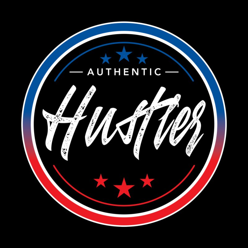 Authentic Hustler Men's T-Shirt by NEXCUE MOTIVATIONAL ART