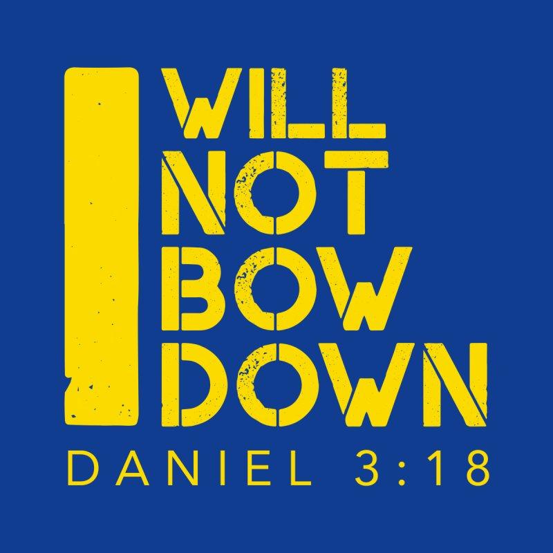 I Will Not Bow Down Kids Longsleeve T-Shirt by NEXCUE MOTIVATIONAL ART