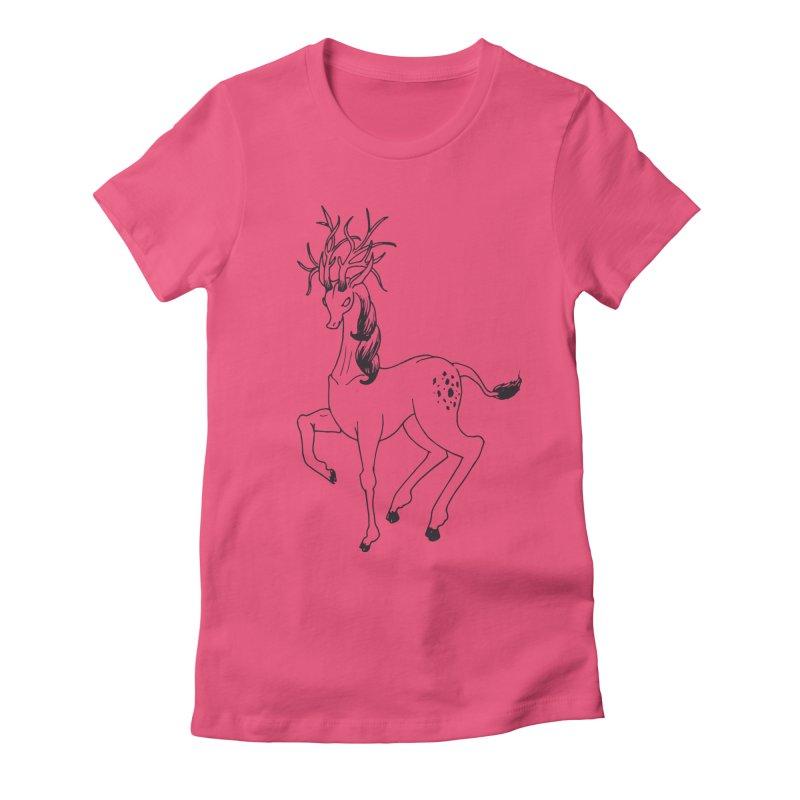 Buffadilo Women's Fitted T-Shirt by nhanusek's Artist Shop