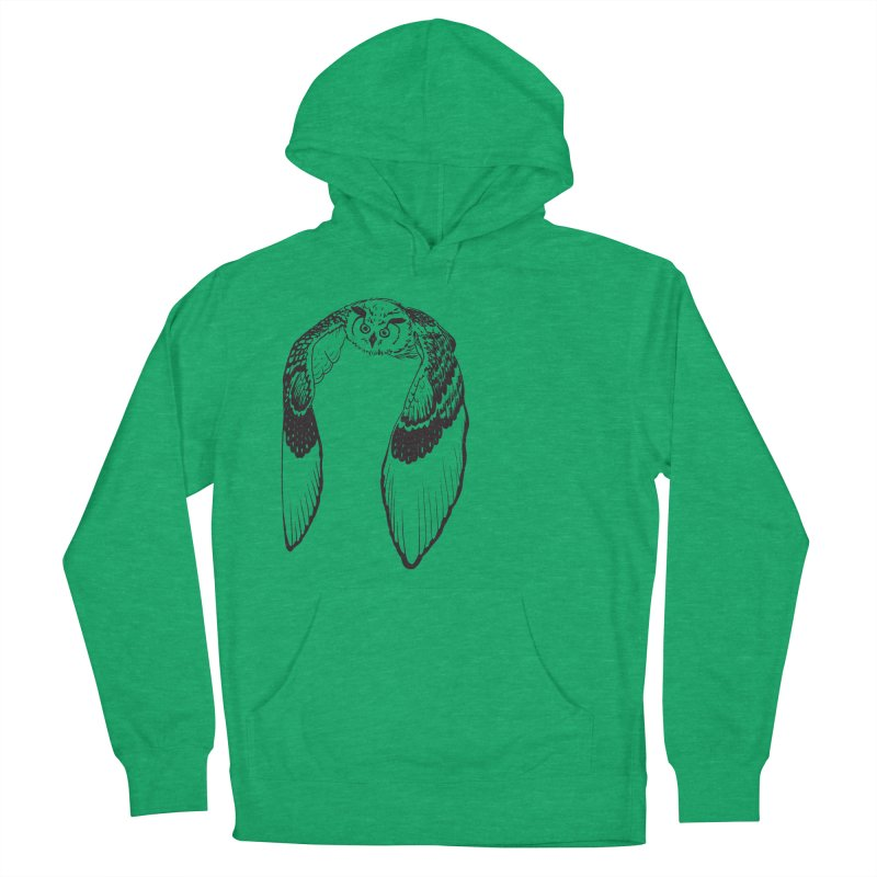 Flying Owl Women's Pullover Hoody by nhanusek's Artist Shop