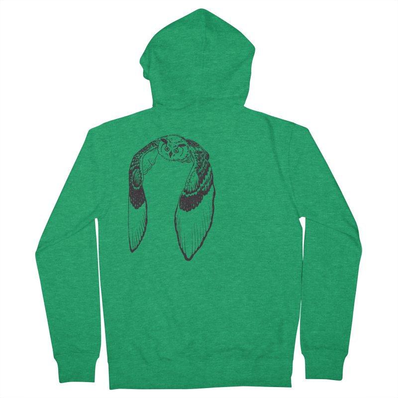 Flying Owl Men's Zip-Up Hoody by nhanusek's Artist Shop