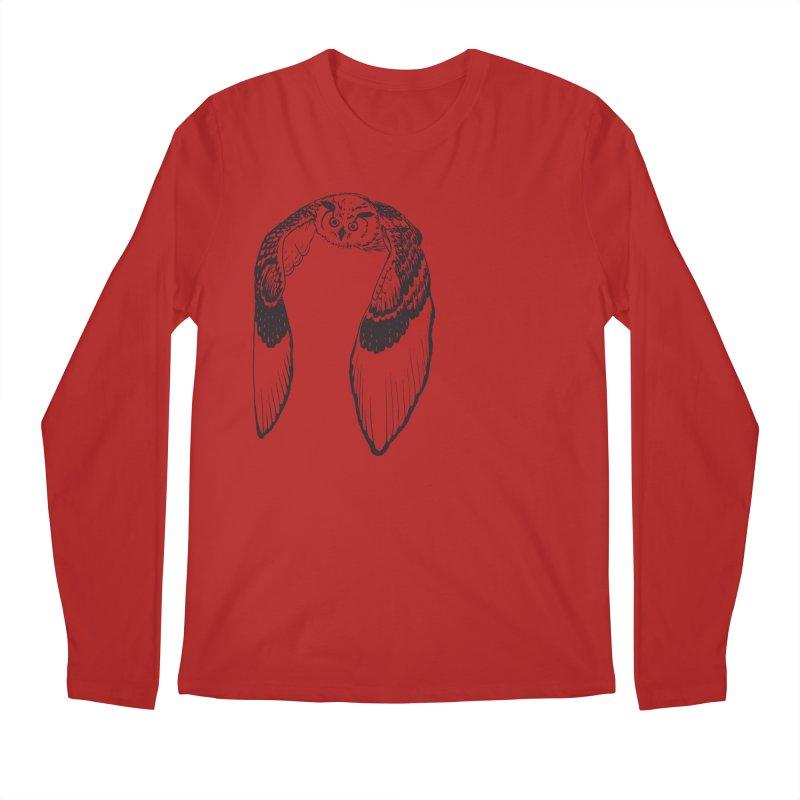 Flying Owl Men's Longsleeve T-Shirt by nhanusek's Artist Shop