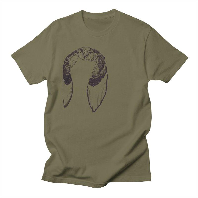 Flying Owl Men's T-Shirt by nhanusek's Artist Shop