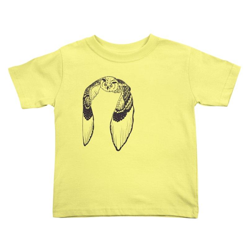 Flying Owl Kids Toddler T-Shirt by nhanusek's Artist Shop