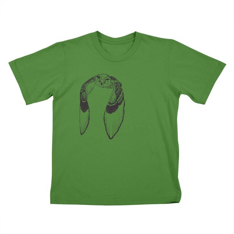 Flying Owl Kids T-Shirt by nhanusek's Artist Shop