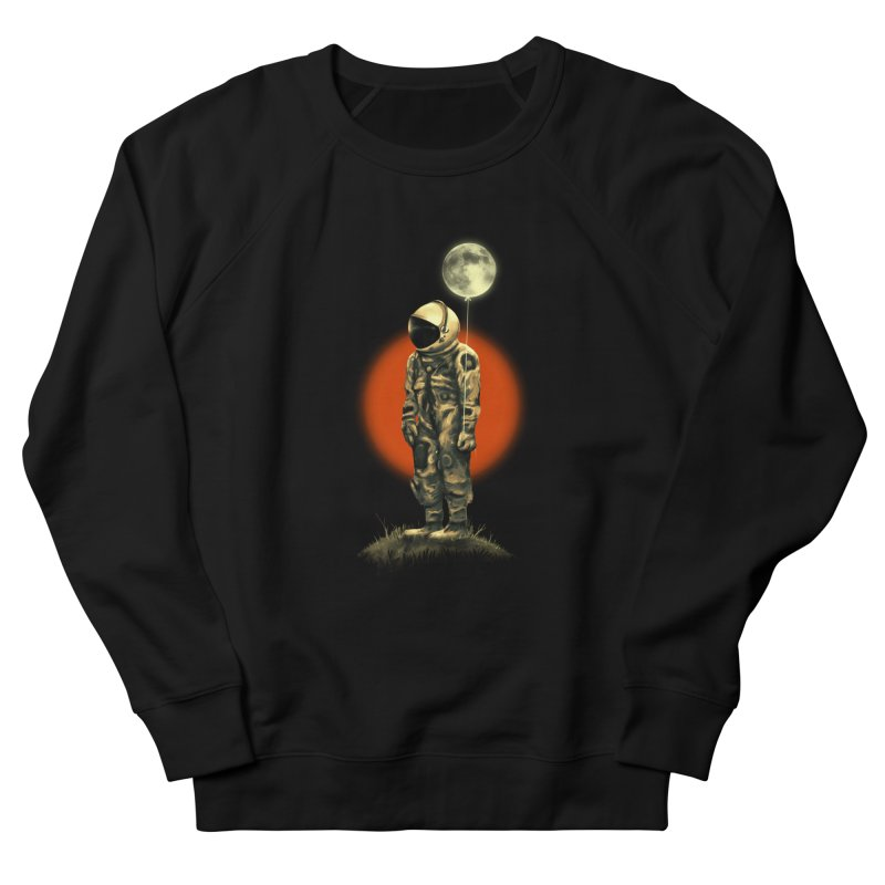 Fly Me To The Moon in Women's French Terry Sweatshirt Black by nicebleed