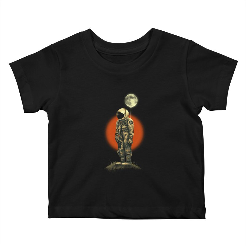 Fly Me To The Moon Kids Baby T-Shirt by nicebleed