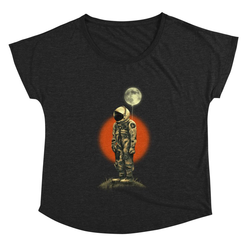 Fly Me To The Moon Women's Dolman Scoop Neck by nicebleed