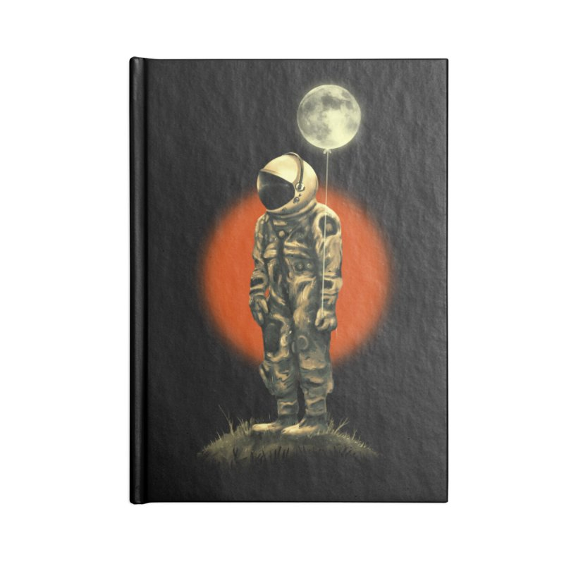 Fly Me To The Moon Accessories Blank Journal Notebook by nicebleed