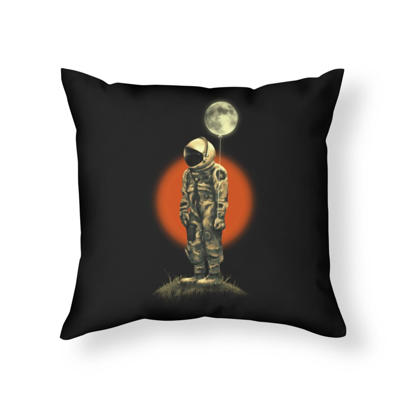 Fly Me To The Moon Home Throw Pillow by nicebleed