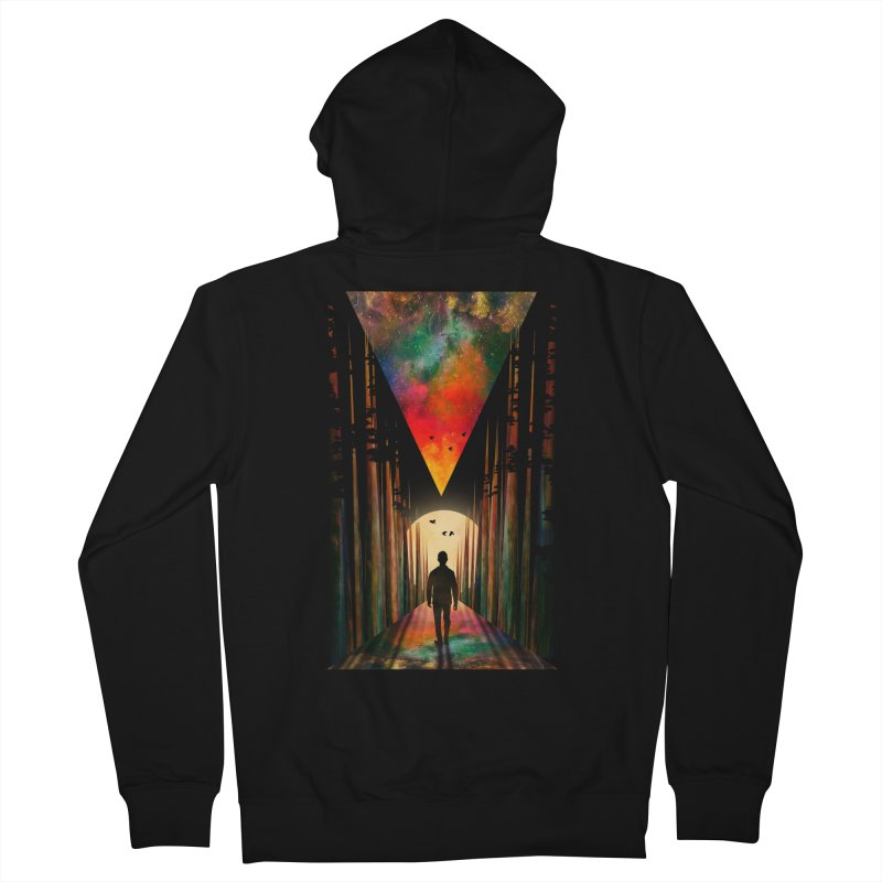 Chasing Sunset Men's French Terry Zip-Up Hoody by nicebleed