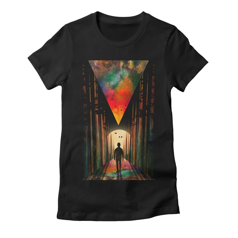 Chasing Sunset Women's Fitted T-Shirt by nicebleed