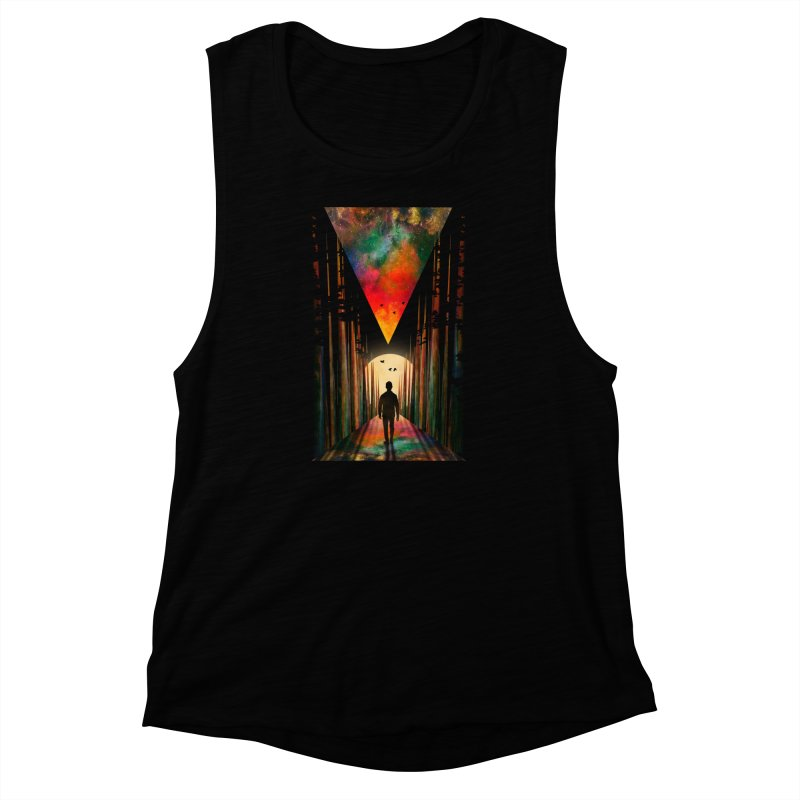 Chasing Sunset Women's Muscle Tank by nicebleed