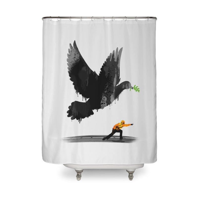 Take Off Home Shower Curtain by nicebleed