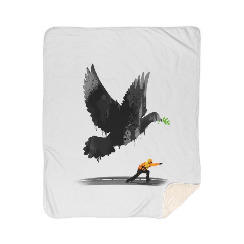 Take Off Home Sherpa Blanket Blanket by nicebleed