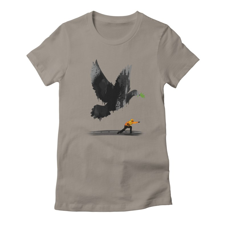 Take Off Women's Fitted T-Shirt by nicebleed