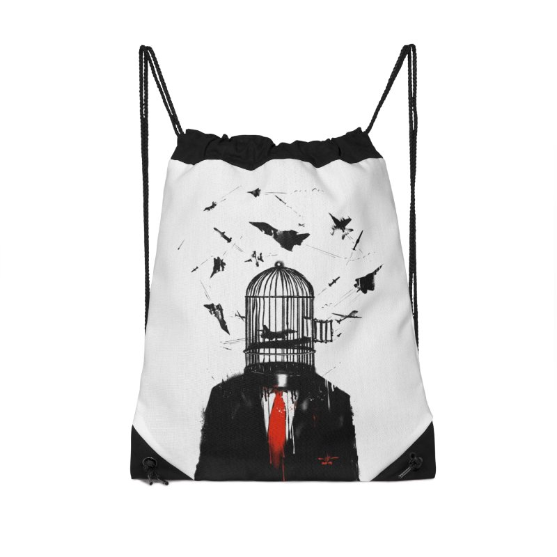 Free Birds Accessories Drawstring Bag Bag by nicebleed